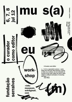 manystuff.org — Graphic Design daily selection » Blog Archive » mus(a)eu(m) – The Curator as Editor #design #poster #typography