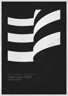 Frank Lloyd Wright | Solomon R. Guggenheim Museum, New York | Shiro to Kuro #black #architecture #poster