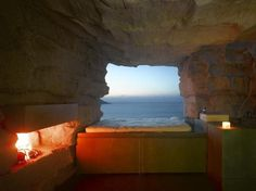 Rockhouse 2 #house #rock #design #architecture #bed #view