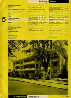 Bauen+Wohnen: Volume 02, Issue 05 | Flickr - Photo Sharing! #swiss #design #graphic #cover #grid #bauen+wohren #magazine #typography