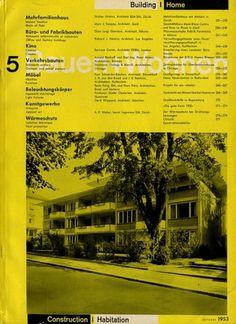 Bauen+Wohnen: Volume 02, Issue 05 | Flickr - Photo Sharing! #swiss #design #graphic #cover #grid #bauen+wohren #magazine #typography