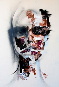 Abstract Portrait Paintings by Joseph Lee