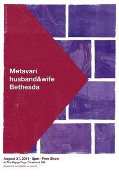 Dribbble - metavari_poster2.jpg by Jeff Finley #grid #minimal #vintage #poster #music #helvetica #cleveland