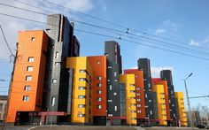 Petrozavodsk with modern bright apartments #bright #architecture #art #exterior #buildings