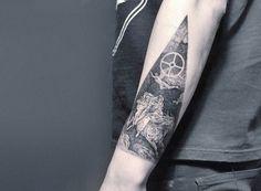 Amazing Darkest Tattoo Design by Placide Avantia #men tattoo #tattoos