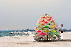 Beautiful eye catching snowcone in Toronto beach to warm up your winter. #design #product #modern #outdoot