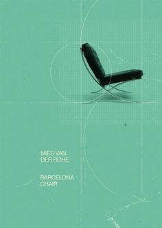FFFFOUND! #chair #van #der #rohe #mies #typography