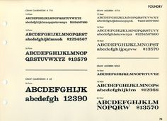 Daily Type Specimen | Craw Clarendon and Craw Modern were designed by... #typography