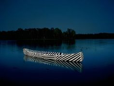 carrie schneider | mint #line #photo #illustration #photography #lake #canoe