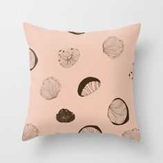 society6.com/uinverso #mushroom #brown #pattern #pink