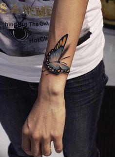 65 3D butterfly tattoos