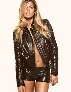 Doutzen Kroes for Vogue Spain #model #girl #photography #leather #fashion