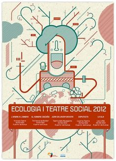 Ecologia i Teatre Social on the Behance Network #brochure #illustration #design #poster