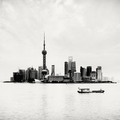 Megalopolis: Shanghai on the Behance Network #white #shanghai #metropolis #black #island #photography #boat #and