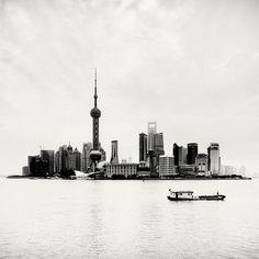 Megalopolis: Shanghai on the Behance Network #white #shanghai #metropolis #black #island #photography #boat #and