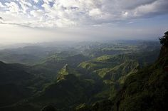 Sunset on the Simien Mountains | Flickr - Photo Sharing! #green #sky #mountain #landscape