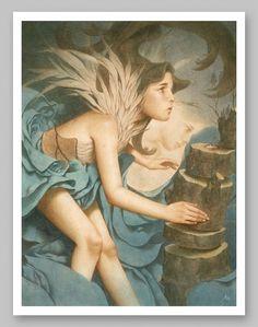 tran.jpg (1000×1267) #acrylic #vintage #painting #nguyen #tran