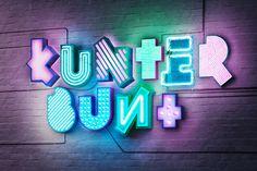 #neon #typography #3D #lights