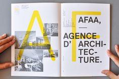 Julie Michel | Designer indépendante à Lyon | AFAA Architecture #print #grid #spread #layout #typography