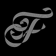 36 Days Of Type on Behance by Sergi Delgado #op #optical #opart #design #custom #tipography #black #grinani #art #ribbon #type #franco