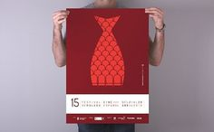 bRIDA / ESTUDIO CREATIVO #red #brida #festival #scales #fish #malaga #illustration #cinema #poster #metaphor