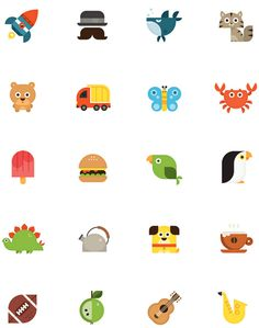 Nook HD icons #icons #animals #illustrations #nook #eva galeshoot