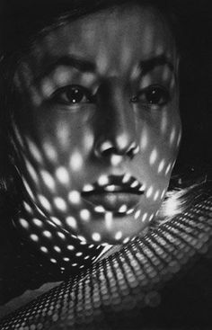 The Magic Lantern #photography #portrait #black and white #woman #dots #fernand fonssagrives