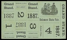 E P H E M E R A / LOVE these grand stand tickets! #green #vintage #ephemera