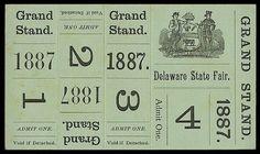E P H E M E R A / LOVE these grand stand tickets! #green #vintage #ephemera