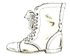 FINE ART #boots #illustration #ups #lace