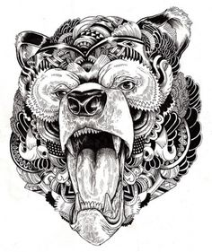 Incredibly Detailed Animal Illustrations - My Modern Metropolis #bear #illustrations