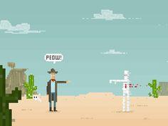 Peow #western #peow #pixel #cowboy #desert