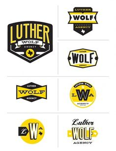 Luther Wolf Agency | S G N L // Branding & Design #mark #agency #yellow #logo #typography