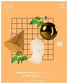 Flyer for El Baile, Mendoza, Argentina.