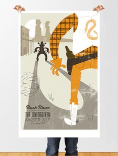 Rush River The Unforgiven Poster #beer #poster