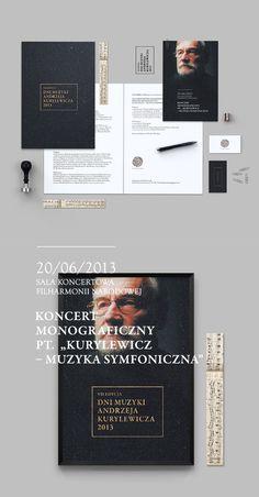 Andrzej Kurylewicz Days / Warsaw Philharmonic on Behance #print #branding