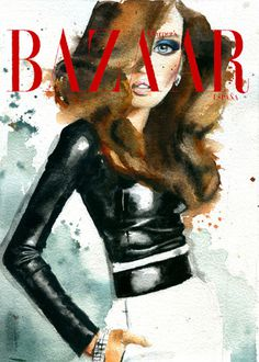 fashion illustration _ Marcela Gutiérrez #fashion #cover #illustration #watercolor
