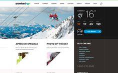 Snowbird Ski Resort #iteractive #web #ui #ski