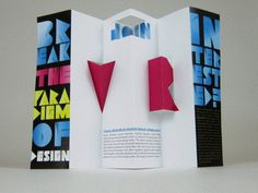 Visual Resources Design Group Recruiting Brochure #pop #up #popup #3d #brochure