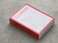 Kennedy Magazine #cover #print #red #book