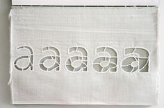 Handmade Type 2006/2007 - Evelin Kasikov – CMYK embroidery and Typographic Design – London