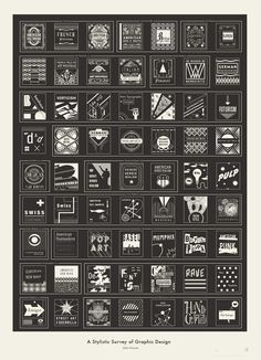 A Stylistic Survey of Graphic Design. #inspiration #design #graphic #survey