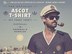 Dribbble - Ascot Tee by Alex Rinker #yachting #pipe #boat #anchor #typography