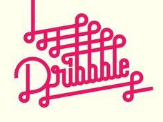 dribbble lettering by Sergi Delgado