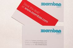 Behance Network :: Project Editor #red #branding #business #card #india #design #graphic #bombay #zoombaa #blue