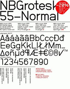 "NeubauLaden NB-Typography NBGrotesk-55 Normalâ""¢ #font #typography"