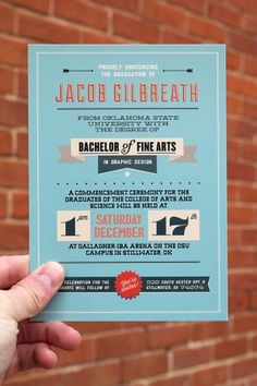 Graduation Announcement // OSU 2011 on the Student Show #print #design #graphic #flyer #jacob #osu #type #gilbreath #graduation #student #typography