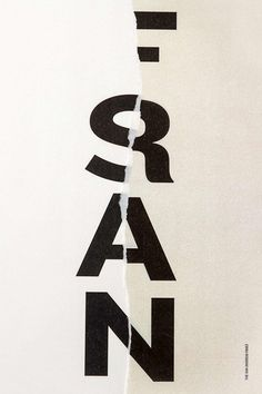 Creative Review An image of San Francisco #type #tear #rip