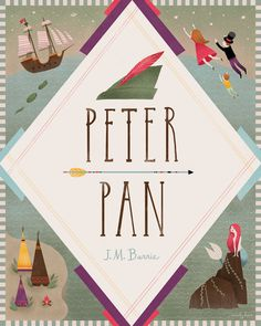 Peter Pan Book Cover #illustration
