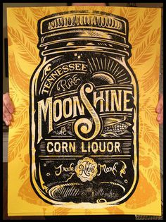 typeverything.com, Derrick Castle #type #poster #moonshine